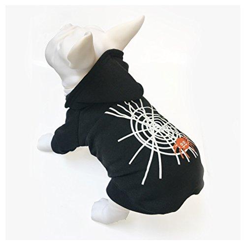 Jeerui Halloween Hundekostüm Pullover Welpen Nette mit Kapuze Mäntel für Haustier Kostüm
