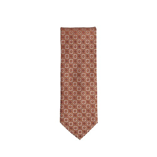 Silk Ties classico cravatta seta arancione floreale 8