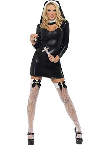 Sexy Nonnenkostüm Kostüm sexy Nonne Gr. 36/38 (S), 40/42 (M), (Halloween Sexy Männer Kostüme)