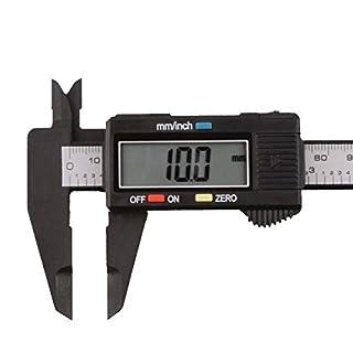 150mm/6inch LCD Digital Electronic Carbon Fiber Vernier Caliper Gauge Micrometer