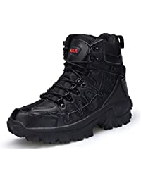 SINOES Soldado Libre al Aire Libre Hombres tormenta Ultraligero Tactical Botas Transpirable Zapatos Ligero y Duradero