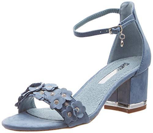 XTI 32032 Scarpe col Tacco con Cinturino Dietro la Caviglia Donna, Blu Jeans, 38 EU