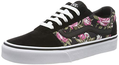 Vans Damen Ward Suede/Canvas Sneaker, Mehrfarbig ((Roses) Black Xnw), 38.5 EU Lace Up Suede Sneakers