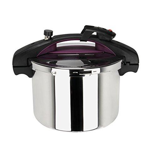 Sitram 710395 Sitramondo - Pentola a pressione, 6 L, con timer, colore: prugna