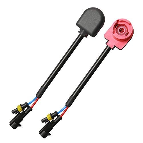 Top-Longer HID Xenon D2S D2R D2 C Anschluss Verkabelung Leuchtmittel Adapter Halter HID Sockets, Hohe Temperatur Widerstand Draht Kabel Stecker Adapter für Scheinwerfer oder Nebel Lampe (2/rot)