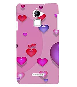 Fuson Designer Back Case Cover for Coolpad Note 3 Lite :: Coolpad Note 3 Lite Dual SIM (Love Love Hearts Infactuation Togather In Relationship)