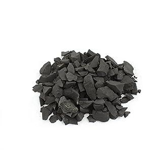 Heka Naturals Schungit-Steine für die Wasseraufbereitung, 500 g Schwarz Matte Rohe Shungit-Chipsfür Wasserreinigung und…