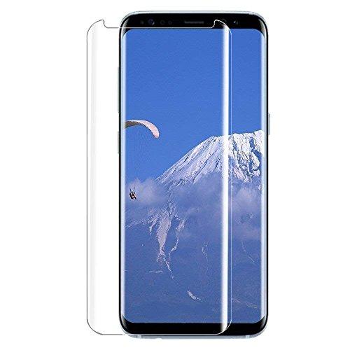 QHZHGW Galaxy S8 Panzerglas Schutzfolie, 9H Härte/Gute Qualität/Anti-Kratzer/Einfaches Anbringen/Displayschutz Gehärtetem Glass Displayschutzfolie Folie für Samsung Galaxy S8 (Transparent)