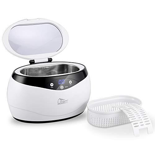 Uten Ultraschallreiniger Reinigungsgerät 650ml Digital Ultrasonic Cleaner Reiniger Edelstahl Ultraschallbad mit Uhrenhalter und Korb 42,000Hz 35W -