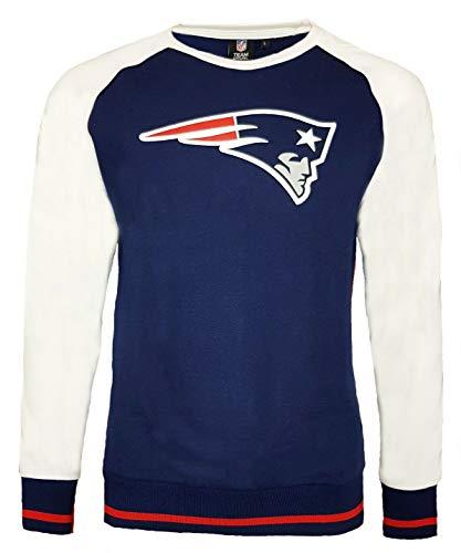 NFL New England Patriots Fleece Raglan Crew Sweatshirt Gr. Large, Navy - Raglan Fleece Hoody