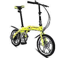 LETFF Bicicleta Plegable para Adultos De Aleación De Aluminio De 16 Pulgadas, Estudiantes De Bicicleta
