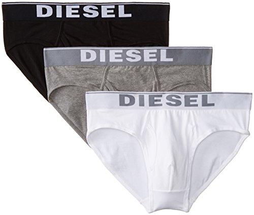 Diesel Herren Slip Umbr-Blade, 3er Pack Mehrfarbig (Black/Grey/White 04)