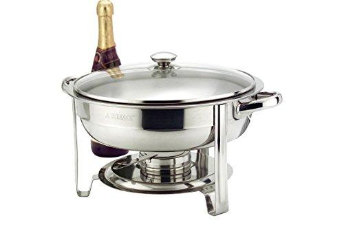 4,5 l Warmhaltetopf, rund, Glasdeckel, ideal für Buffets, zum Grillen oder für Dinnerpartys