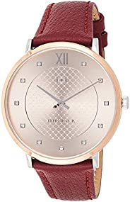 Tommy Hilfiger Women's Analog Quartz Watch With -Leather Strap 1781810, Brown
