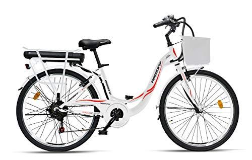 """Armony Perugia ADV, Bicicletta Elettrica Unisex Adulto, Bianco, 26\"""""""