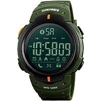 NICERIO Relojes Inteligentes multifuncionales Fitness Tracter Reloj electrónico Relojes de Pulsera Digitales Impermeables Relojes Deportivos al Aire Libre (Verde Oliva)