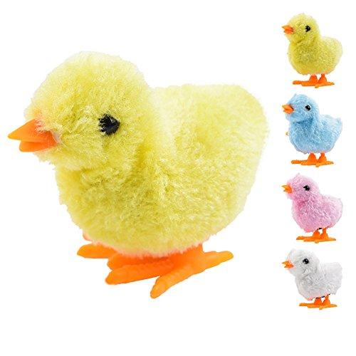 Newin Star hüpfendes Huhn-Spielzeug zum Aufziehen, mit Uhrwerk zum Aufziehen, Küken