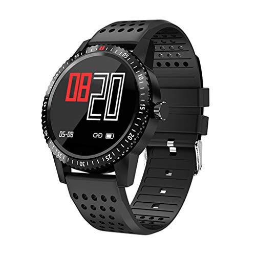 JIEGEGE Männer Frauen Smart Band, IP67 Wasserdichtes Hartglas Activity Fitness Tracker Pulsmesser Sport, 1,3 Zoll IPS High-Definition-Bildschirm, Für Android Und IOS -