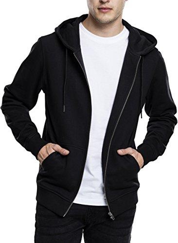 Preisvergleich Produktbild Urban Classics Herren Kapuzenjacke Basic Zip Hoodie - einfarbiges Sweatshirt mit Kapuze, Kapuzenpullover mit Reißverschluss - Farbe black, Größe M