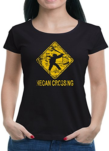 TLM Negan Crossing T-Shirt Damen M Schwarz