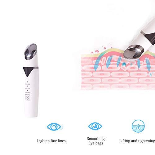Augenmassagegerät, Massage Maske Gegen Augenringe Und Fältchen Eye Care Massagegerät Sonic Anti-Aging Beheizter Faltenstift Mit Usb-Laden -