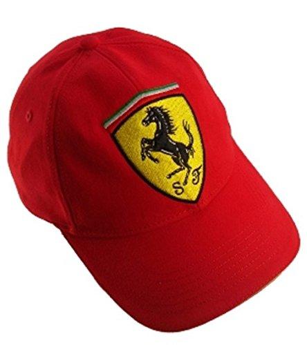 Ferrari Scudetto Cap, Ferrari Kappe, Formel 1, F1, rot (Lizenzierte Baseball-hüte)