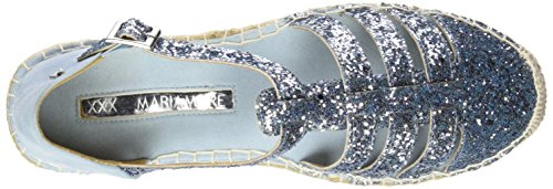 Maria Mare 66271, Scarpe Stringate Basse Brogue Donna Glitter azul