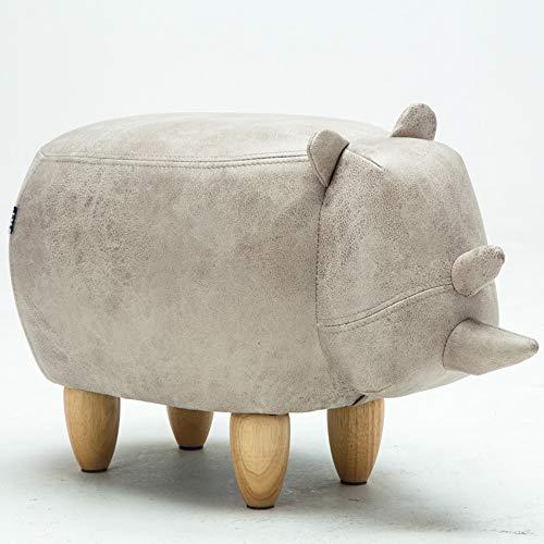 ZXQZ Hocker Kreatives kleines Schwein, das Schuhe Sofa Hocker-Haushaltsspeicher-Speicher-Hocker ändert (Farbe : C1#)