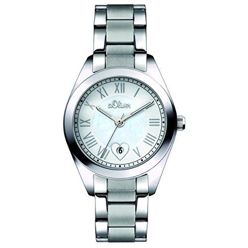 s.Oliver Damen-Armbanduhr Analog Quarz SO-15084-MQR