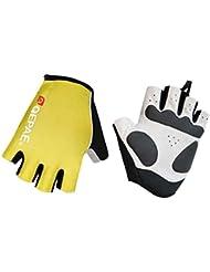 Lerway al aire libre y deportes reflectante cortos guantes del dedo para el ciclismo, bicicletas, Motocicleta (Amarillo, XL)
