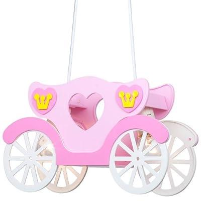 Kinder Deckenleuchte Mädchen Hängeleuchte rosa Prinzessinnenkutsche Globo 15724 von Globo - Lampenhans.de