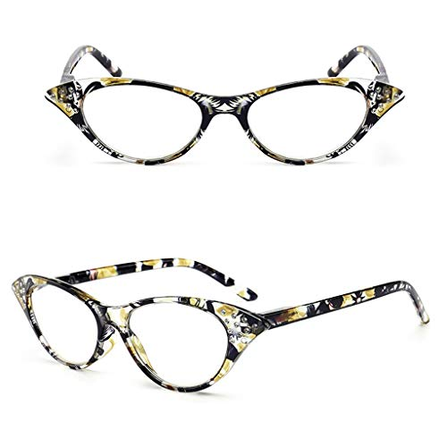 LLCC Anti-Müdigkeit HD Lesebrille für ältere Menschen, Mode Katze Brillengestelle, High-End Lesebrille für Männer und Frauen