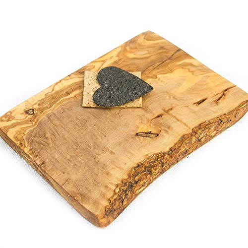 The rustic dish - boards - tagliere rustico in legno di ulivo, 20 x 15 x 2 cm