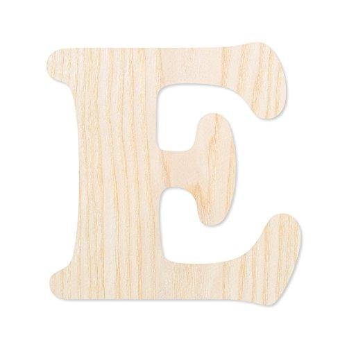 Wunschtext / Schriftzug aus hellem Echtholzfurnier - Cooper Echt-Holz Buchstaben in verschiedenen Größen, Größe:15 cm, Buchstaben:großes E