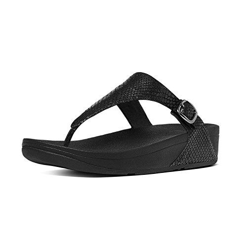 FitFlop Skinny Sandalen Schwarz Schlange Schwarze Schlange