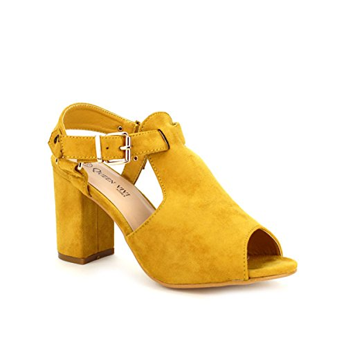 Cendriyon, Sandale simili peau Caramel QUEEN Chaussures Femme Caramel