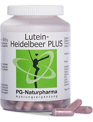 Vitaminas para ojos, 160 cápsulas, luteina zeaxantina, con 100 mg de polvo de arándano,...