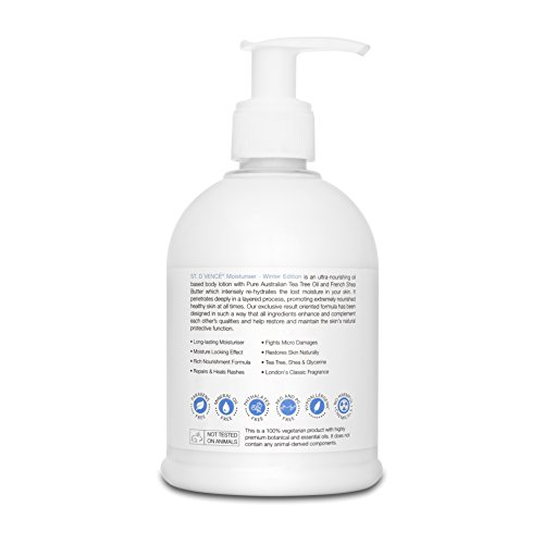 ST. D'VENCE Winter Edition Body Lotion with Tea Tree Oil and Shea Butter for Dry Skin, 300 ml