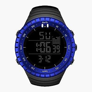 Sunday Herren Smartwatch Digital LED Sport Uhr Wasserdicht Armbanduhr Männer Uhr Digital Lederarmband Hand Uhren Watch Jungen Geschenk -30 M Wasserdichtigkeit