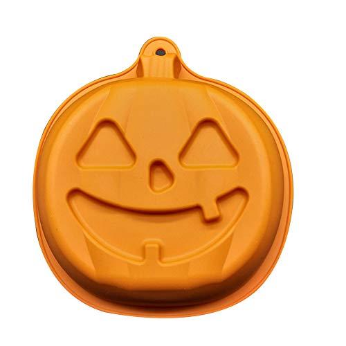 Etbotu Stampi con Forme Particolari Simpatici Cartone per Torta Silicone Halloween Forma Zucca