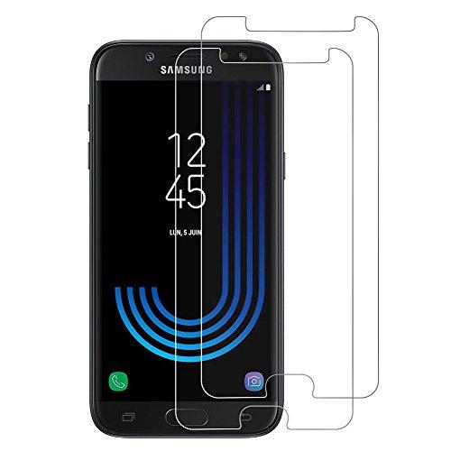 [2-Pack] Margot Protecteur D'écran Verre Trempé pour Samsung J5 2017, Pouces, Facile à Appliquer Sans Bulles d'air, Haute Transparence [résistant aux rayures]