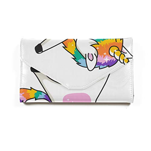 Womans Passdecke Dabbing Unicorn Dab Dancing Fashion Passport Wallet Passinhabers Hülle Für Frauen Männer Reisegepäck RFID Blocking Cover Passport