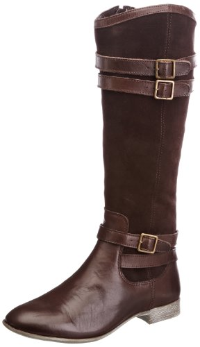 Hush Puppies - Farland_14bt, Stivali Donna Marrone (Marron (Dk Brown Wp Lea))