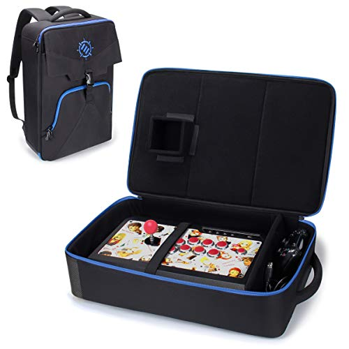 ENHANCE Arcade Fight Stick Rucksack Reisetasche - Gaming Joystick Controller Fightstick Fall mit Joystick Shield Anpassbare Innenausstattung - Zubehörtaschen für Laptops - Passend für Controller