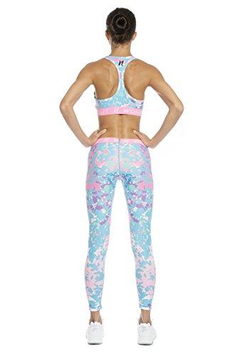 NESSFIT® - Leggings sportivi -  donna BLUE BITS