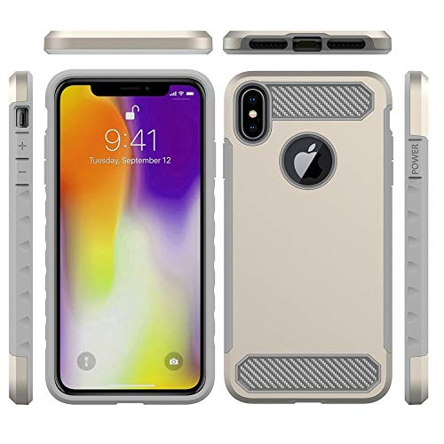 Iphone Xr Max Coque Ausure Extra Avant Lèvre Relevée Hybride Impact 2 Couleur Résistant Aux Chocs Robuste Tpu Souple Rigide Pc Bumper Coque