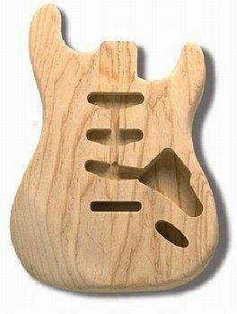Allparts Swamp Ash Body Guitar en S Style E