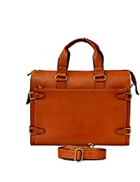 """Stylish 15.9"""" Genuine Pure Leather Laptop Sleeve Messenger Office Bag By-Widnes"""
