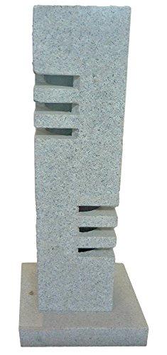 TrendLine Granit-Laterne, Höhe 60 cm Wegeleuchte Gartenlaterne Gartendekoration