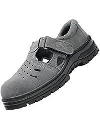 Magideal Zapatos Antideslizantes Sandalias de Seguridad Antideslizantes Para Hombres Con Puntera de Acero - EU 41 US 8.5 UK 7.5
